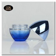 JGF30-50ml Blue glass cosmetic jar (5)