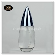 100ml Clear glass bottle with lotion pump
