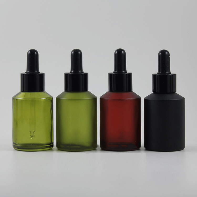 60ml Olive Green Glass Bottle With Dropper E Juice Liquid