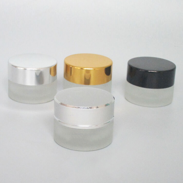 c01b1c9b8bd7 wholesale mini empty glass container 5 ml, small frosted glass cosmetic pot